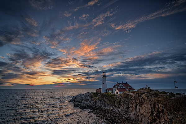 October Sunrise at Portland Head by Rick Berk